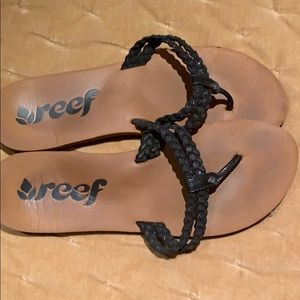REEF leather braided sandals SIZE 10